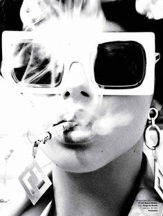 factory girl: adriana lima by ellen von unwerth for vogue brazil september 2014