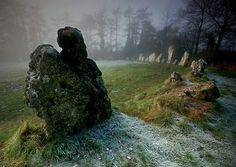 The Rollright Stones, Oxfordshire, England 77 limestones encircling secrets for the past 5,000 years.