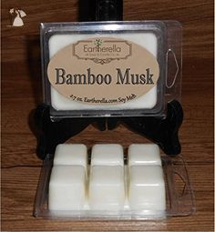 BAMBOO MUSK Natural Soy Wax break-apart tart melts, 2.7 oz., present gift for friend, mother, wife, girlfriend, her - Venue and reception decor (*Amazon Partner-Link)