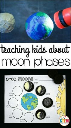 My little astronomers love observing the night sky! After they asked how the moon shrunk and grew, I knew it was the perfect time to teach them about the moon's phases with this oh-so-yummy Oreo space activity. Who knew science could be so tasty?! Getting Ready To prep the activity, I needed: 1 medium ball (baseball sized) 1 globe or larger sized ball a flashlight or a