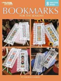 Winter, spring, summer and fall--there's a wonderful bookmark here for all! Designer Deborah Lambein has created 8 cross stitch designs featuring favorite symbols of the seasons, from spring bunnies a