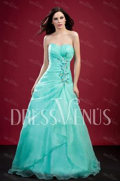 A-Line Floor-Length Sweetheart Prom Dress.