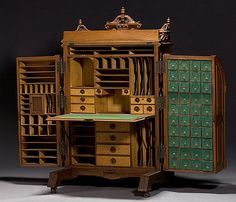 Chapter 7: Wooten Desk. Renaissance Revival style. This design executed efficiency, flexibility, and practicality.