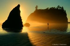 Sunset at Ruby Beach by Becky J. Parkinson. Captured with Nikon D3 Digital SLR Camera.