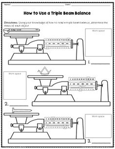 science basics reading a triple beam balance worksheet packet measurement worksheets. Black Bedroom Furniture Sets. Home Design Ideas