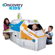 Discovery Kids Cardboard Color and Play Rocketship | Overstock.com Shopping - Great Deals on Discovery Kids Playhouses & Play Tents