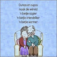 Ouma en oupa is bedoel. Grandkids Quotes, Quotes About Grandchildren, Afrikaanse Quotes, Father's Day, Grandparents Day, Love You, My Love, Embedded Image Permalink, Bible Verses