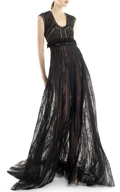 Sleeveless Tulle Embroidered Gown by GEORGES HOBEIKA for Preorder on Moda Operandi