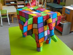Elmer in papier-maché