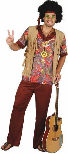 Heren hippie pak : Vegaoo Volwassenen Kostuums