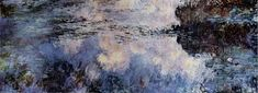 "Water Lilies - Claude Monet, 1883. Destroyed by Fire in New York City's Museum of Modern Art (MoMA) in 1957. On April 15, 1958, a fire on the second floor of MoMA destroyed an eighteen-foot-long ""Water Lilies"" painting, along with a smaller (but still large) version of water lilies. Apparently, the fire was started when workmen who were installing an air conditioning unit took a smoking break near paint cans, sawdust, and a canvas drop cloth, igniting the canvas. The fire spread rapidly."