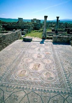 Near Meknes is Volubilis, which features some of the finest extant Roman mosaics and ruins in North Africa