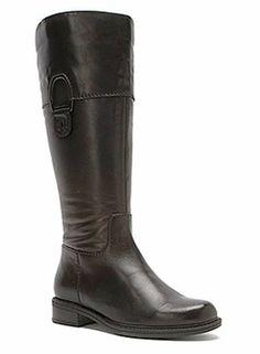 David Tate Women's Maria Super Wide Calf Boot (Black)