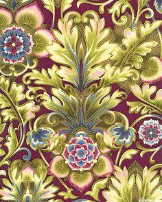 eQuilter Esmeralda - Nouveau Garden Fantasy - Plum/Gold