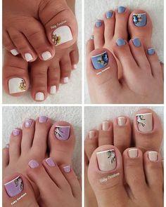 Manicure Y Pedicure, Mani Pedi, Toe Nail Art, Toe Nails, How To Make Hair, How To Do Nails, Pretty Nail Art, Toe Nail Designs, Nail Tips