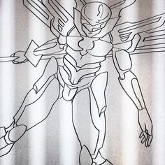 #cyborg #mecha #knight #manga #drawing #ink #wip