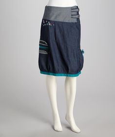 Take a look at this Coline USA Blue Denim Skirt - Women on zulily today!