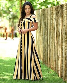 Designer Gowns African Dress Short Sleeve Dresses Frocks Dress Skirt Paola Santana Cute Outfits Suits Clothes For Women Pretty Prom Dresses, Simple Dresses, Casual Dresses, Elegant Maxi Dress, Classy Dress, Sewing Dresses For Women, Dress Sewing, Dress Outfits, Fashion Dresses