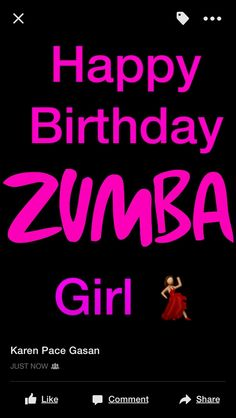 Birthday wishes for my Zumberas
