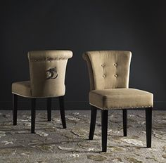 Safavieh Mercer Collection Sinclair Taupe Espresso Linen Ring Dining Chair Set of 2 *** Be sure to check out this awesome product.Note:It is affiliate link to Amazon. #cool