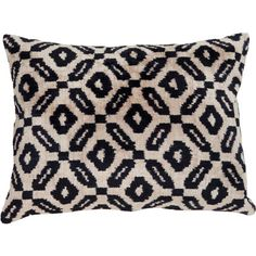 Nazli Decorative Pillow Cover ($100) ❤ liked on Polyvore featuring home, home decor, throw pillows, black throw pillows, black accent pillows, black toss pillows, black home decor and handmade home decor