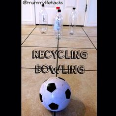 Recycling Bowling- Before taking out the recycling today we made a quick DIY bowling alley and started teaching Mr 18m how to count to 4. He was having so much fun rolling the ball and kicking the pins to learn to count past 2 though . #lifehacks #greatidea FOLLOW US FOR WEEKLY IDEAS AND HACKS Facebook- Mummy Life Hacks or Instagram @mummylifehacks