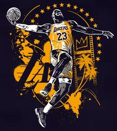 Lebron James Lakers Art Source by Mvp Basketball, Basketball Videos, Basketball Posters, Basketball Pictures, Basketball Legends, Basketball Cookies, College Basketball, Soccer, Lebron James Lakers