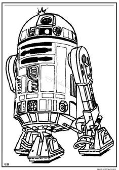 R2 D2 Star Wars Coloring Page