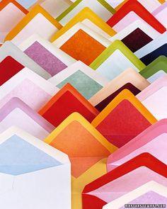 DIY: Colorful Invitations