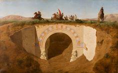 Félix Thomas (1815-1875)  The Visit of the  Pacha of Mossoul to  the Excavations at Khorsabad,  formerly Niniveh  Oil on canvas - 100 x 160 cm  Paris, Musée du Louvre  Photo : Musée du Louvre