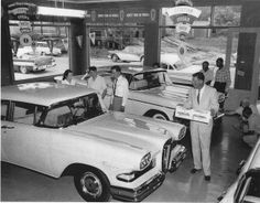 Find information about the Edsel, Ford's automotive failure of the fifties. Ford Company, Ford Motor Company, Edsel Ford, Car Ford, Car Advertising, Ads, Ford Classic Cars, Toy Trucks, Amazing Cars