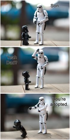 Stormtrooper and Son.