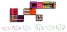 Roche bobois mah jong boho sofa modular setting sofas for Canape roche bobois kenzo