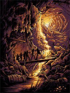 """Goonies never say die!"" by Dan Mumford - Hero Complex Gallery A4 Poster, Movie Poster Art, Dark Fantasy Art, Dark Art, Posters Geek, Dan Mumford, Art Pictures, Photos, Arte Horror"