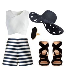 """""""While at sea"""" by seth133 ❤ liked on Polyvore featuring Moncler, Chicwish, Gianvito Rossi and Jaeger"""
