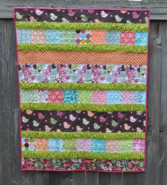 birdie ruffle crush quilt by vickivictoria, via Flickr