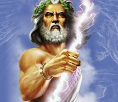 This is Zeus. He is the almighty ruler of the Olympians. His is known best for his ability to use lightning. He is the root of many of the gods and goddesses you see in Greek myths. He is also know as Jupiter in roman mythology. Age Of Mythology, Zeus Greek Mythology, Greek Gods And Goddesses, Castor Et Pollux, Alexandre Le Grand, Ancient Greece, Olympians, You Are The Father, Deities