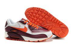 302519 181 Nike Air Max 90 Leather Sail Orange Blaze Deep Garnet AMFM0663