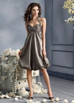 silver bridesmaids dresses