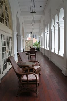 This may be Raffles veranda in Singapore, where my character Cam would have stayed in my current novel that I'm writing---Veiled at Midnight. www.christinelindsay.com
