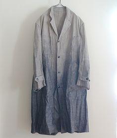 LILY1ST VINTAGE 1940'S VINTAGE FRENCH LINEN GRADATION COLOR ATELIER COAT http://floraison.shop-pro.jp/?pid=72263001
