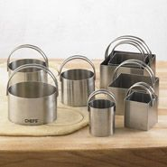 CHEFS Round and Square Biscuit Cutters, Set of 8