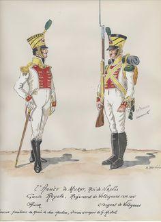 Ufficiale e Volteggiatore di un rgt. della guardia reale