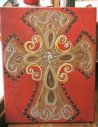 Ooh Wee Designs: Cross Paintings now if I could just paint Diy Canvas, Canvas Art, Canvas Ideas, Painted Canvas, Cross Canvas Paintings, Wooden Crosses, Painted Crosses, Decorative Crosses, Cross Art