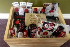 Dr Pepper Goody Crate...So unique.