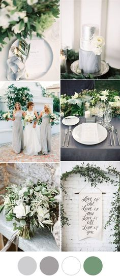 If you're not a fan of pastel colors, go for soft neutrals with greenery in your wedding's color palette.