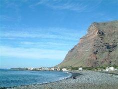 Playa de La Calera, en el municipio de Valle Gran Rey, en La Gomera, Santa Cruz de Tenerife.