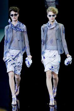 Défilé Giorgio Armani, prêt-à-porter printemps-été 2014, Milan. #MFW #giorgioarmani #fashionweek