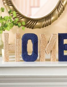 Break out some twine and try these quick DIY decorative letters for your home this weekend. :)