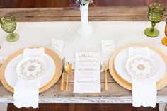 Entry 43: Vintage Fall Wedding Styled Shoot {Calligraphy by Carrie}